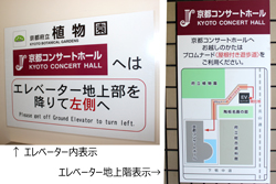 You will find the Information boards inside the elevator and the outside wall.